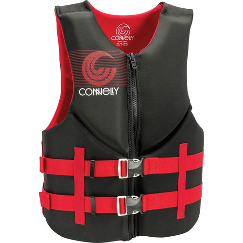 Connelly Promo Men's Neoprene Life Jacket, Red/Black Front