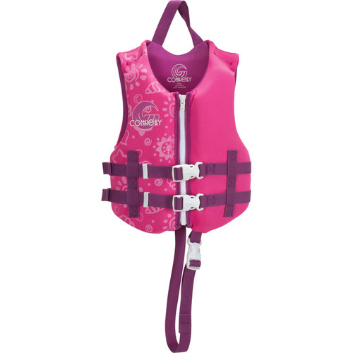 Connelly Promo Girls Child Neoprene Life Jacket, Pink/Purple Front
