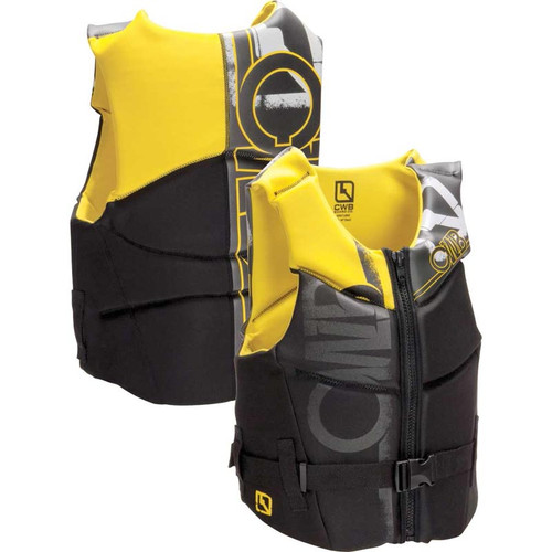 CWB Faction Men's NCGA Life Vest, Yellow, Small Product Image Front and Back