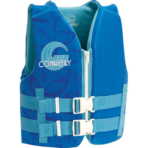 Connelly Promo Boys Youth Neoprene Life Jacket, Blue/Aqua Product Image Front