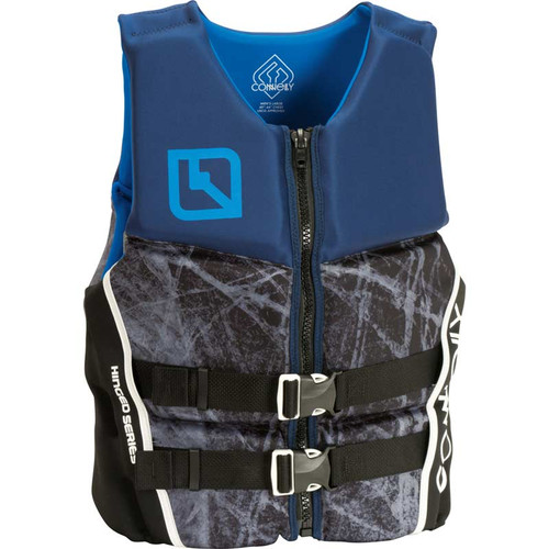 Connelly Pure Men's Neoprene Life Jacket, Blue/Gray Front