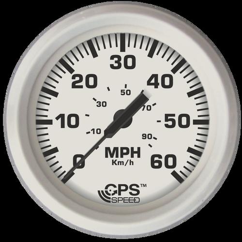 "Faria 60 MPH GPS Speedometer Dress White 4"""