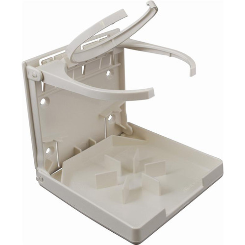 Attwood Fold-Up Drink Holder White Open Right