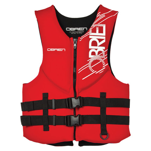 O'Brien Men's Traditional Neoprene Life Jacket, Red X-Small Front