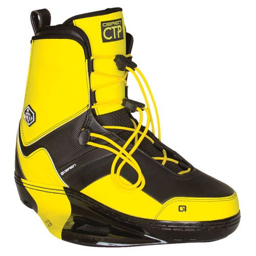 O'Brien Nomad CTP Wakeboard Boots Black/Yellow 9-11 Front