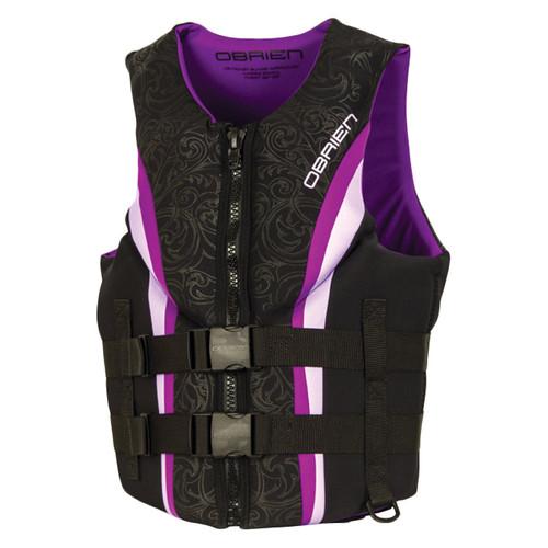 O'Brien Women's Impulse Neoprene Life Jacket Purple/Black