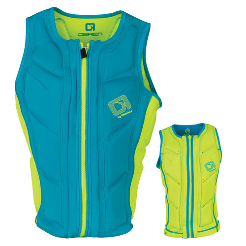 O'Brien Ladies Team Front Zip NCGA Impact Vest Green/Teal