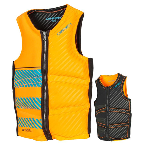 O'Brien Men's Team Front Zip NCGA Vest Orange/Black