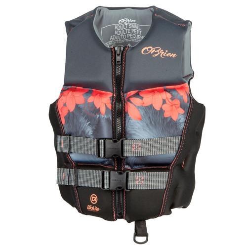 O'Brien Ladies Flex V-Back Neoprene Life Jacket Coral