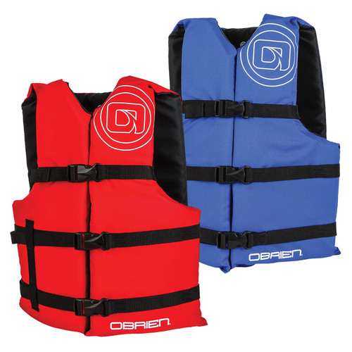 O'Brien Adult Nylon General Purpose Life Jacket Red & Blue