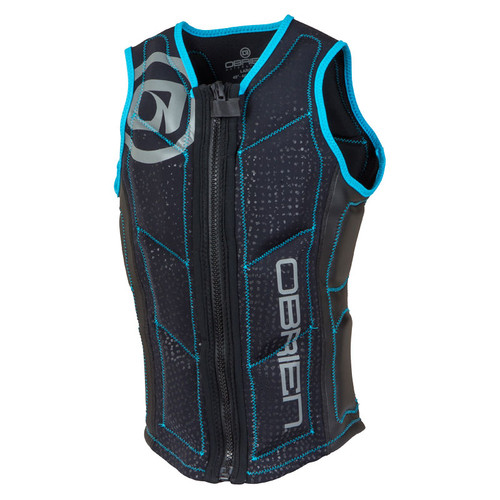 O'Brien Men's Team Front Zip NCGA Impact Vest Cyan/Black