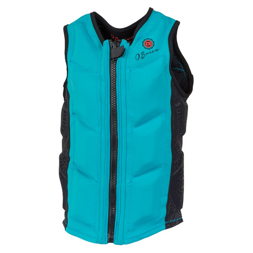 O'Brien Ladies Spark Team Front Zip NCGA Vest Cyan