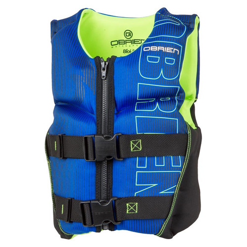 O'Brien Youth V-Back Neoprene Life Jacket, Blue/Green