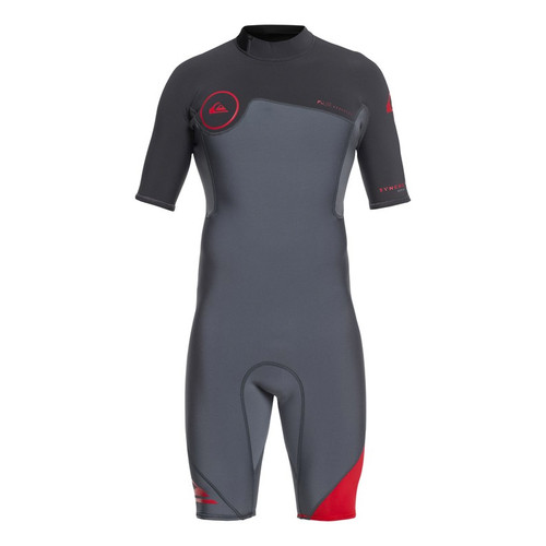 Quicksilver 2/2mm Syncro Series Mens Grey/Red Shortie Wetsuit