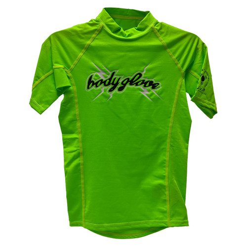 Body Glove Basic Youth Short Sleeve Rashguard Lime
