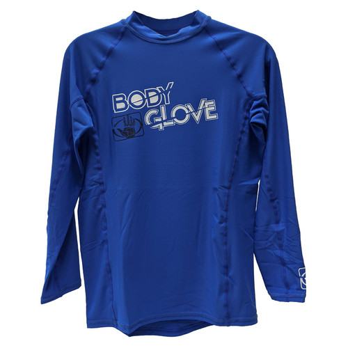 Body Glove Basic Youth Long Sleeve Rashguard Blue