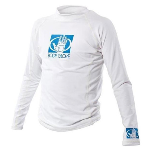 Body Glove Basic Youth Long Sleeve Rashguard White