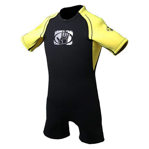 Body Glove Junior Pro 3 Springsuit Shorty Wetsuit 2mm Yellow/Black