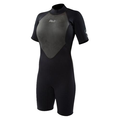 Body Glove Women's Pro 3 Springsuit Wetsuit 2mm Black