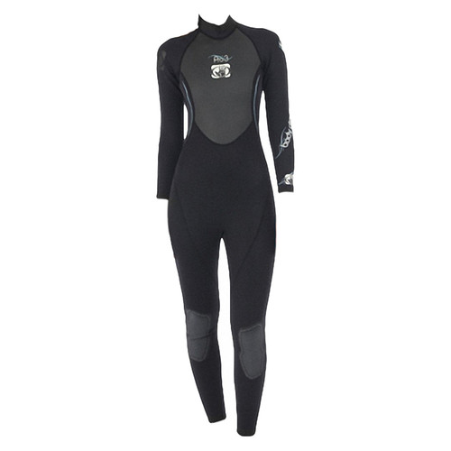 Body Glove Women's Pro 3 Full Wetsuit 3/2mm Black