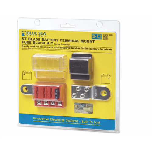 ST Blade Battery Terminal Mount Fuse Box Kit