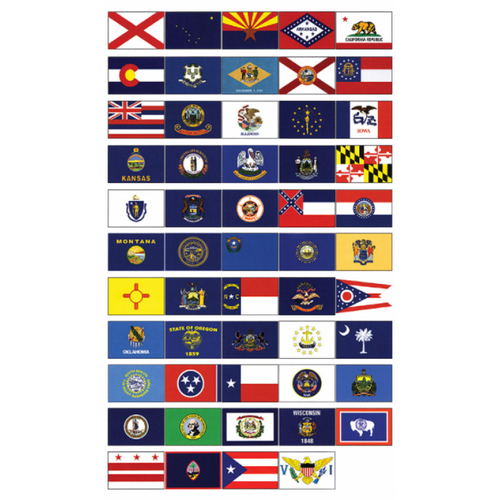 "Taylor Made State 12"" x 18"" Flags"