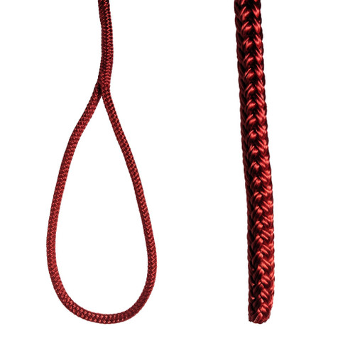"Unicord Nylon Double Braided Dock Line Red  3/8"", 1/2"""
