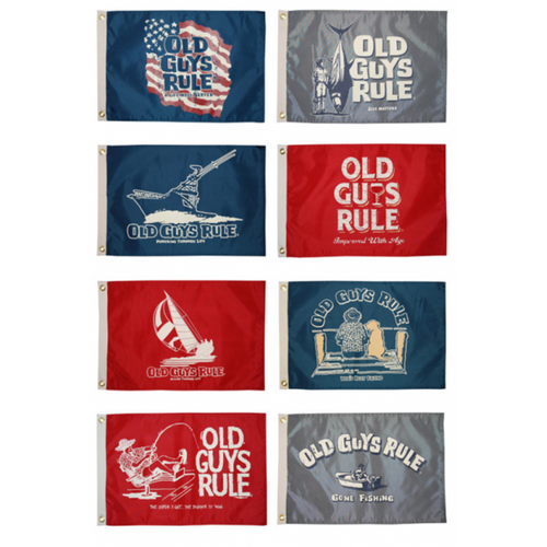 "Taylor Made Old Guys Rule 12"" x 18"" Flags"