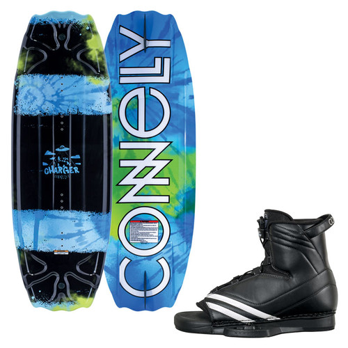 2019 Connelly Charger 119 cm Wakeboard Top and Bottom view with Optima Boot