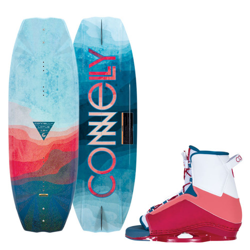 2020 Connelly Lotus Wakeboard With Karma Boots Top and Bottom view