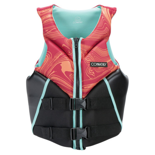 Connelly Aspect Women's Neoprene Life Jacket 2020 Salmon/Teal Front
