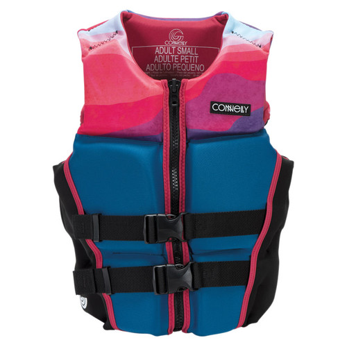 Connelly Lotus Women's Neoprene Life Jacket 2020 Front, Pink/Blue