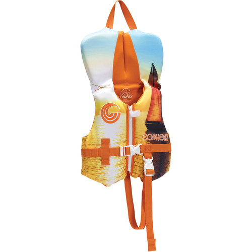 Connelly Classic Boys Infant Neoprene Life Jacket Orange Front