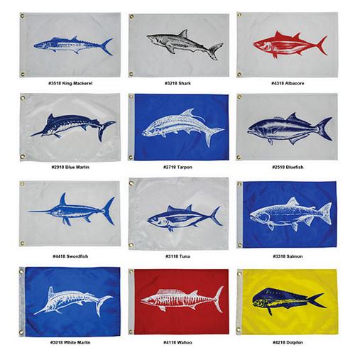 "Taylor Fisherman/'s Catch Flag King Mackerel 12/"" x 18/"""