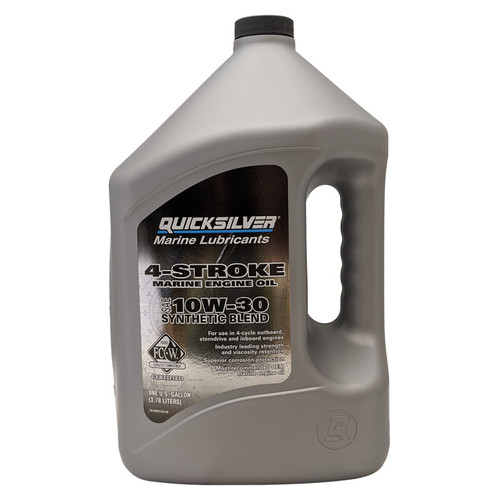 Quicksilver 10W-30 4-Stroke Synthetic Blend Marine Engine Oil - Gallon