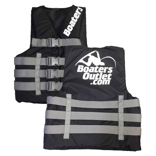 Boater's Outlet Nylon Life Jacket Black