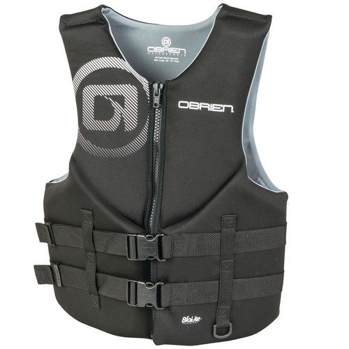 O'Brien Men's Traditional Neoprene Life Vest Black/Gray