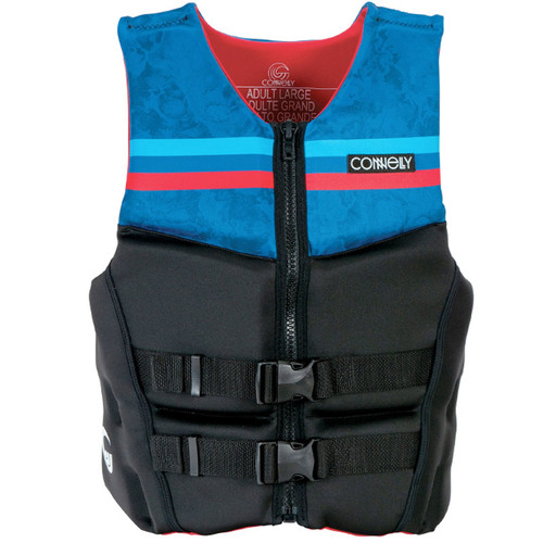 Connelly Pure Men's Neoprene Life Jacket Blue/Red front