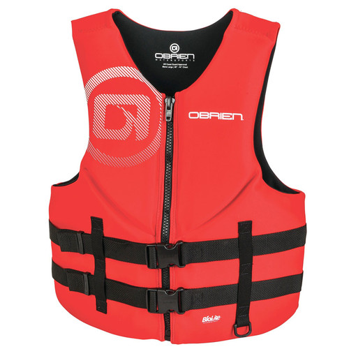 O'Brien Men's Traditional Neoprene Life Vest Red/Black
