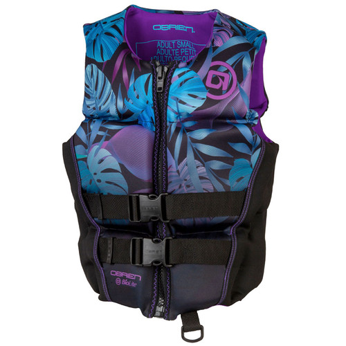 O'Brien Ladies Flex V-Back Neoprene Life Vest Purple/Black