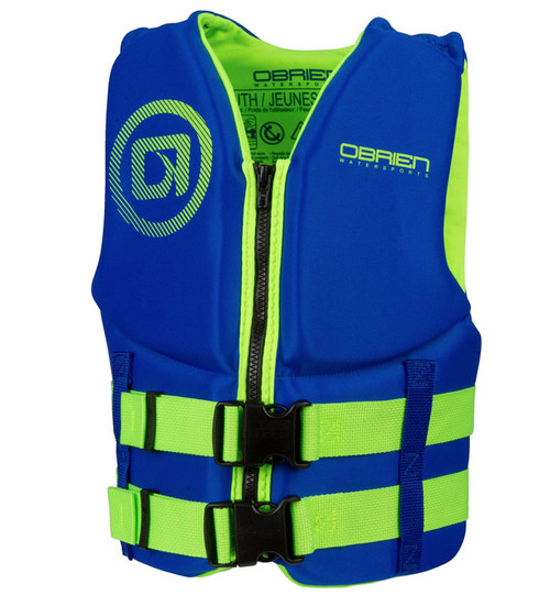 O'Brien Boys Youth Neoprene Life Vest Blue/Green