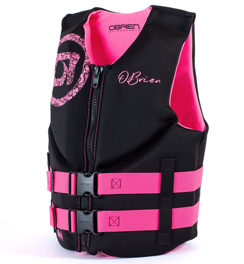 O'Brien Girls Junior Neoprene Life Vest Pink/Black
