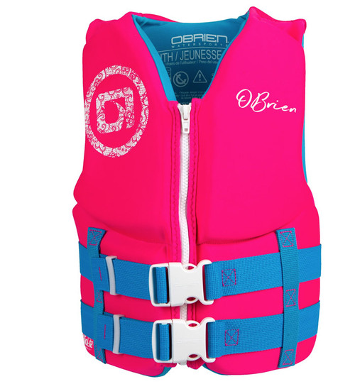 O'Brien Girls Yoth Neoprene Life Vest Pink/Blue