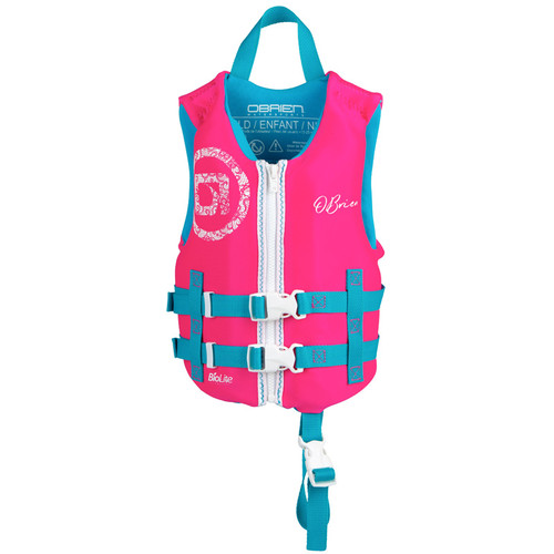 O'Brien Girls Child Neoprene Life Vest Pink/Blue