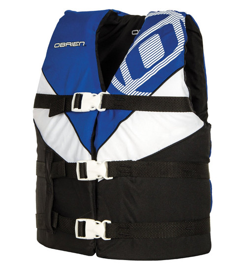 O'Brien Boys Youth Nylon Life Vest Blue/Black