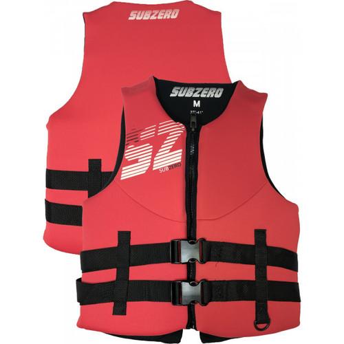 Sub Zero Men's Neoprene Life Jacket Red/Black