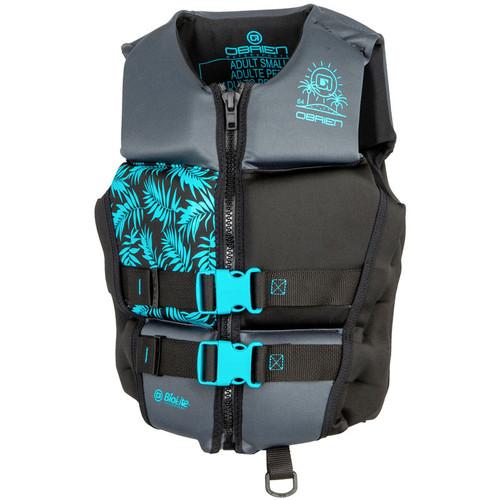 O'Brien Ladies Flex V-Back Neoprene Life Jacket Aqua