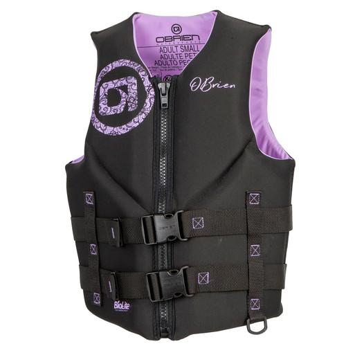 O'Brien Women's Traditional Neoprene Life Vest Purple/Black
