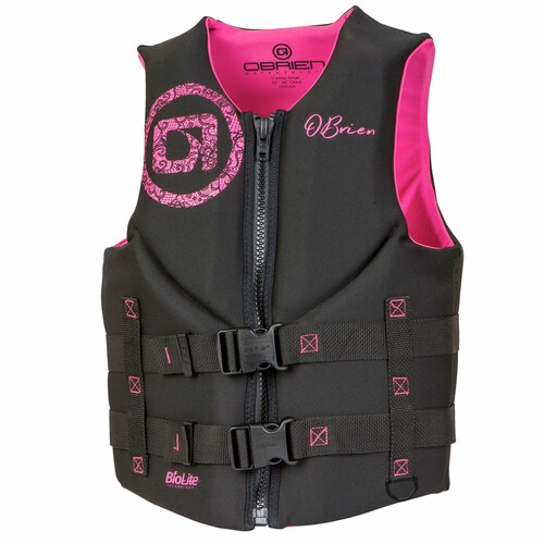 O'Brien Women's Traditional Neoprene Life Vest Pink/Black