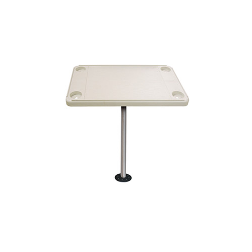 JIF Marine Rectangular Ivory Table With Flush Mount